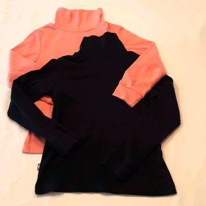 2, Size 8 Turtlenecks, Pink & Navy Blue